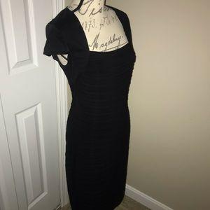 Adrianna Papell black dress size 6.